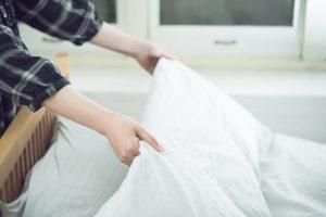 掛け布団には適度な保温が大切